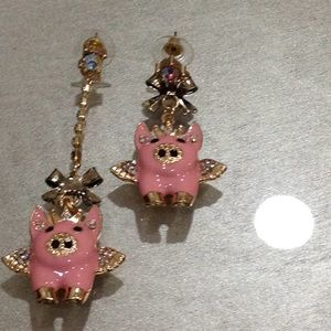 Betsy johnson earrings nwot.